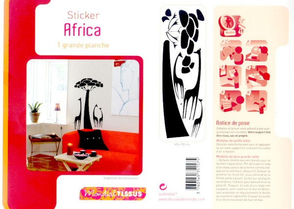 Mes stickers girafes AFRICA
